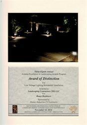Award of Distinction